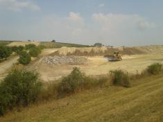 Zařízení betonárky poddálnicí